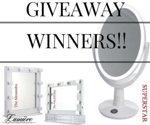 Competition Winners  - Glamour Makeup Mirrors