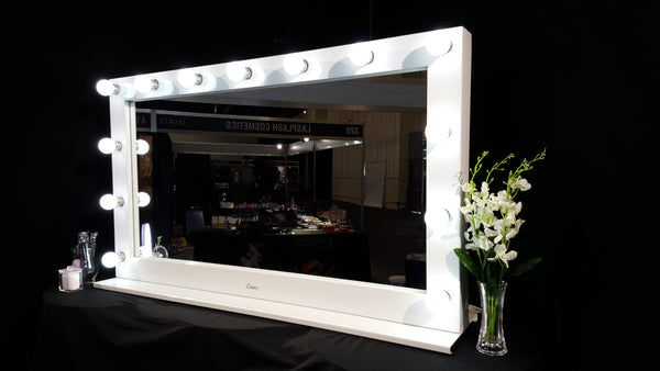 Custom made lighted makeup mirrors glamour makeup for Custom made mirrors