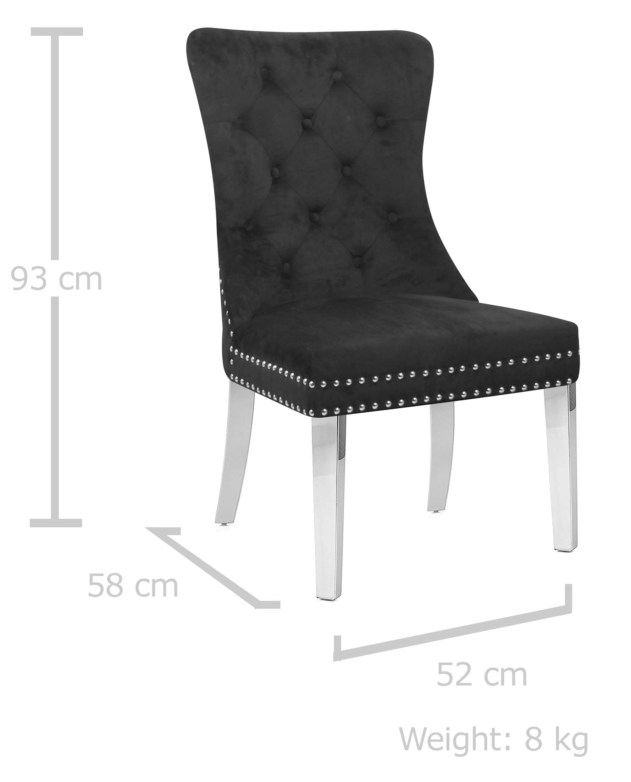 Nora Chair Black Makeup Chairs Stools Glamour Makeup Mirrors