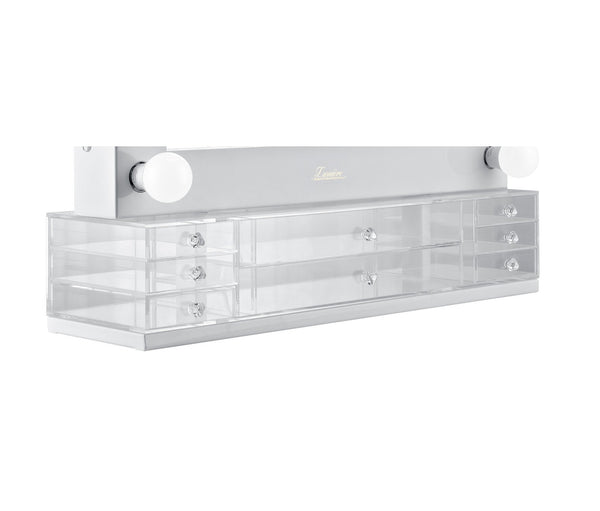 Eight Draw Acrylic Makeup Organiser - Add-on - Glamour Makeup Mirrors   - 1