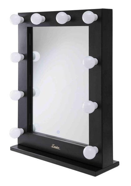 The Alessandra - LED Makeup Mirror - Satin Black - Glamour Makeup Mirrors 3