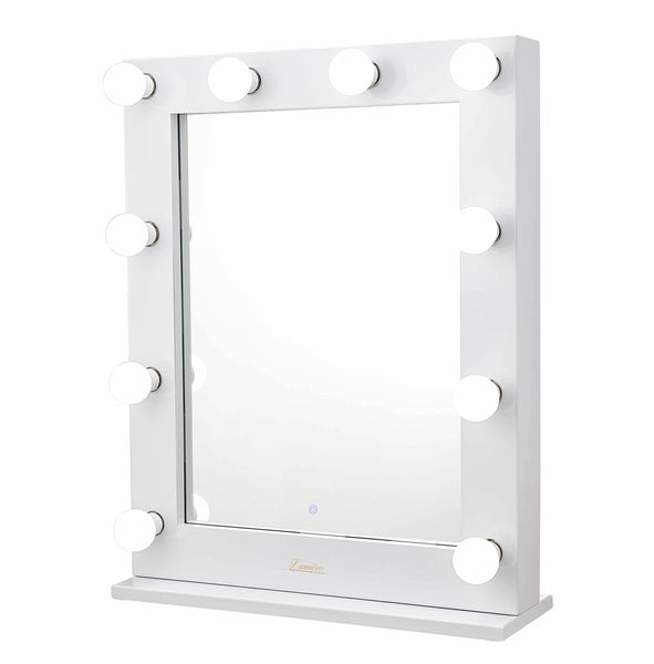 The Alessandra - LED Makeup Mirror - Gloss White - Glamour Makeup Mirrors 2