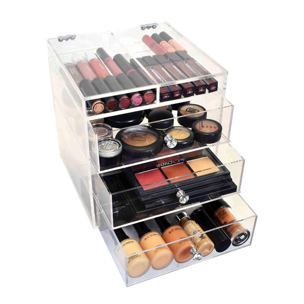 ESSENTIALS CUBE - Makeup Organiser by Glamour Makeup Mirrors