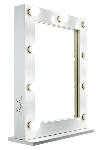 The Alessandra - Glossy White Glamour Makeup Mirror - Glamour Makeup Mirrors  - 5