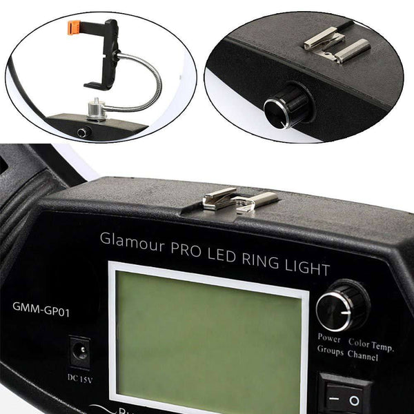 Rechargeable battery and charger kit for Glamour Pro LED Ring Light | Ring Light | Glamour Makeup Mirrors 4