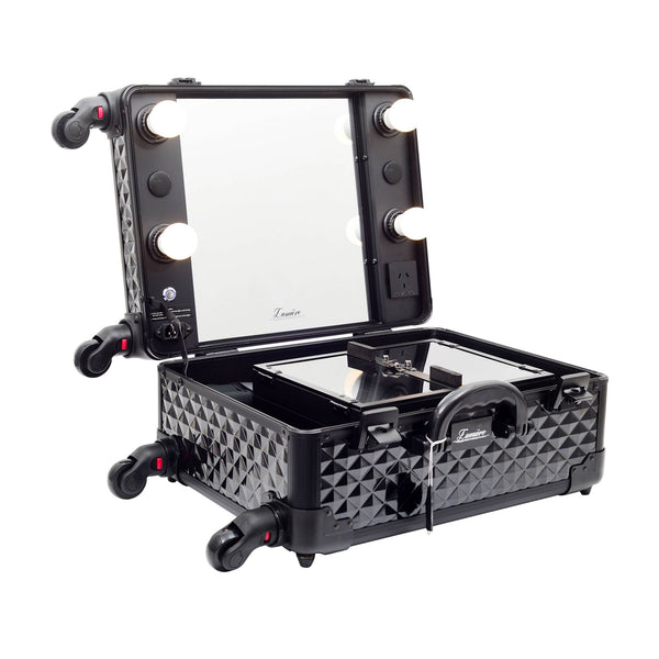 Glow'N'Go Hollywood Travel Case | Cosmetic Travel Case | Glamour Makeup Mirrors 3