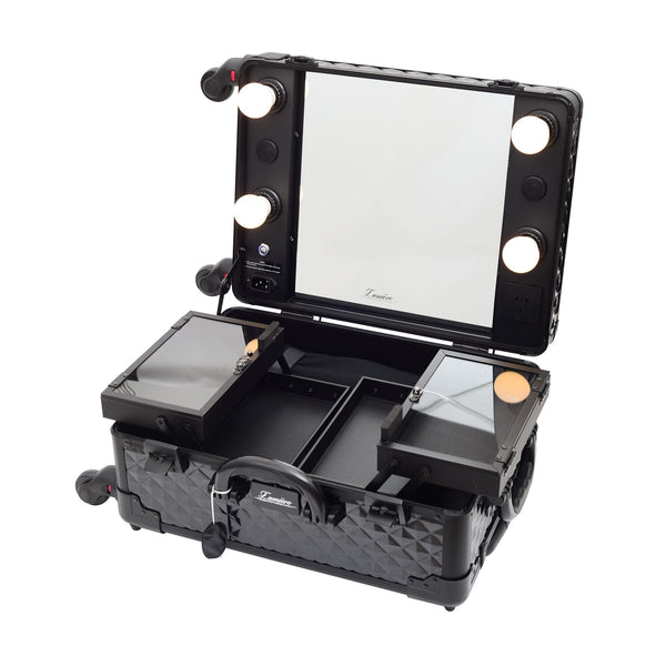 Glow'N'Go Hollywood Travel Case | Cosmetic Travel Case | Glamour Makeup Mirrors 4