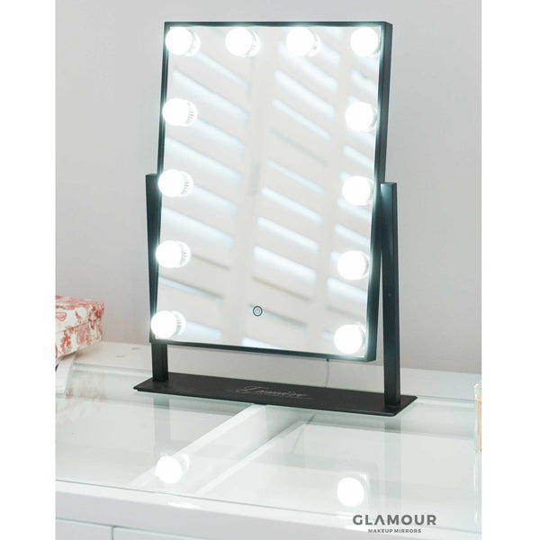Lucia LED Mirror | Black, White & Rose Gold