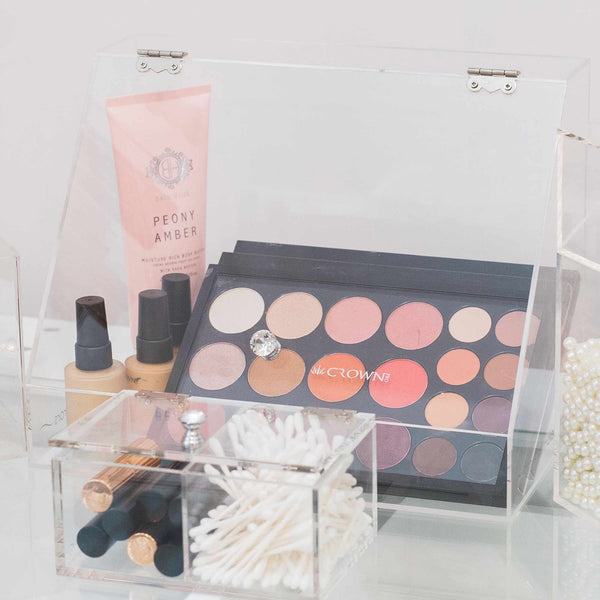 COSMETICS PIT-STOP Makeup Organiser by Glamour Makeup Mirrors 3