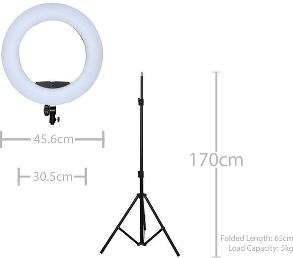 Digital Glamour Pro LED Ring Light - Black - Glamour Makeup Mirrors 8