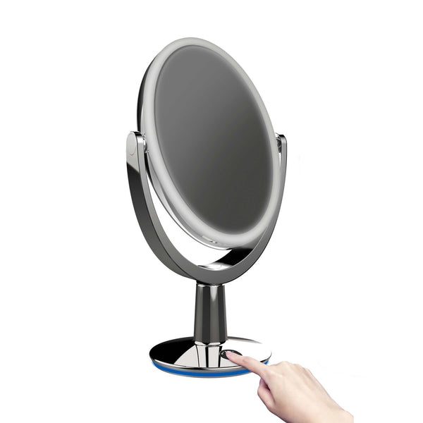 SUPERSTAR - 5X Magnifying LED Smart Makeup Mirror - White - Glamour Makeup Mirrors   - 3