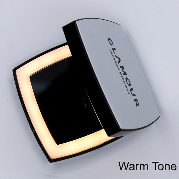 The Compact - Square | LED Compact Mirror | Glamour Makeup Mirrors