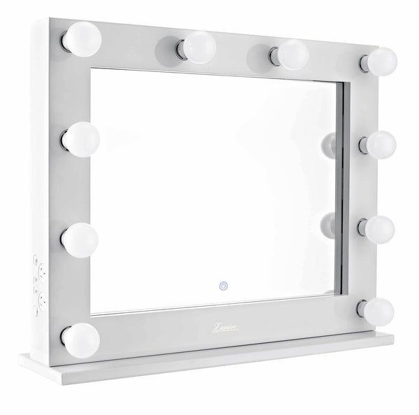 The Valentina - LED Makeup Mirror - Gloss White - Glamour Makeup Mirrors 3