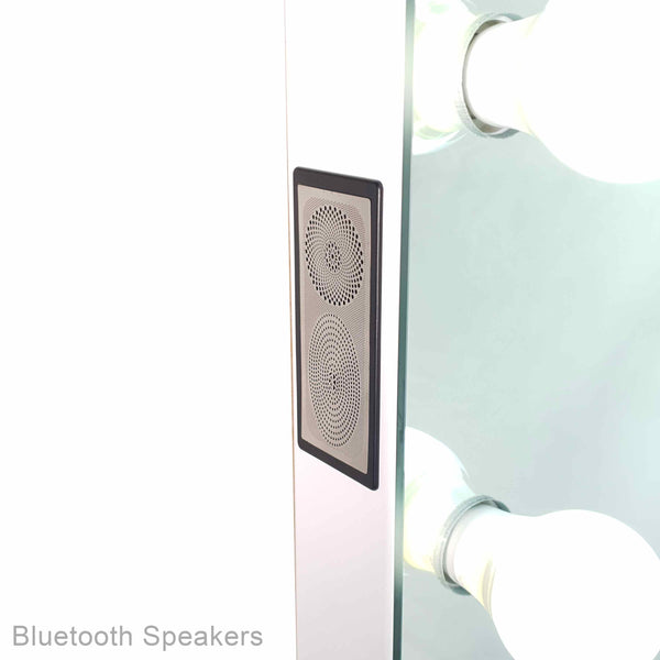The Vogue Vanity - Framless Bluetooth Hollywood Mirror