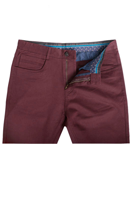 Burgundy Slim Premium Quality Pants (1120)