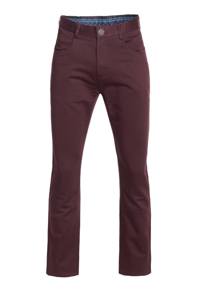 Men's Burgundy Slim Premium Quality Pants