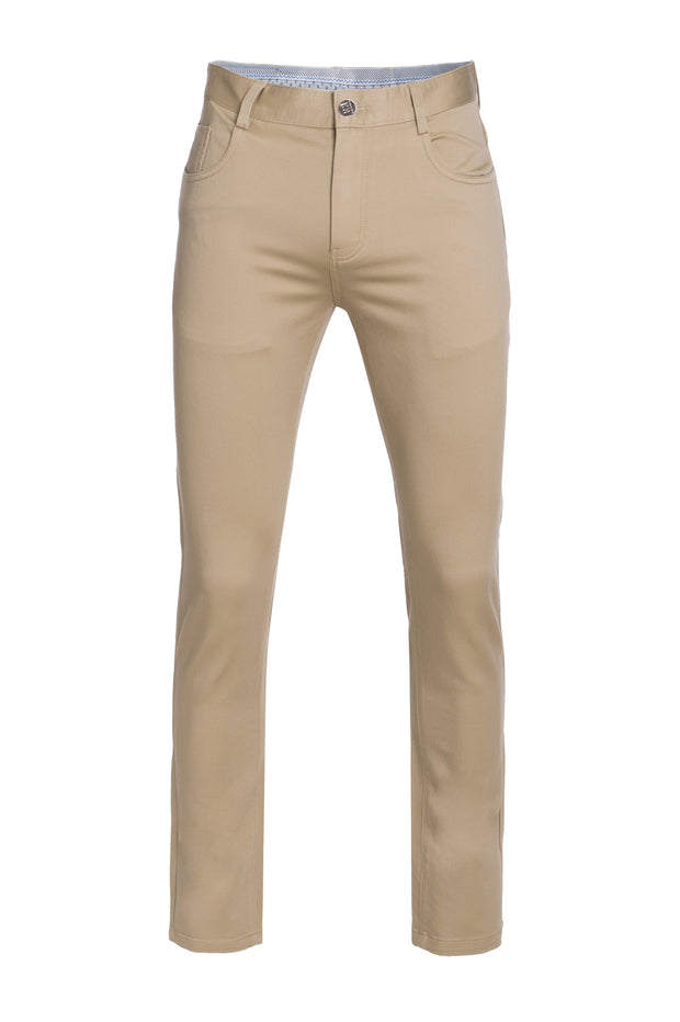 Men's Khaki Skinny Premium Quality Pants