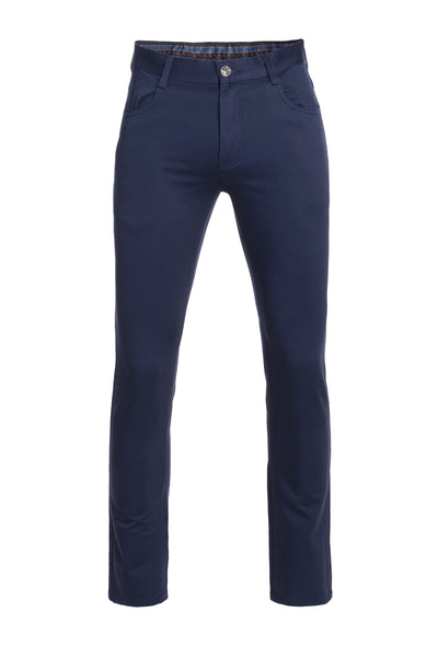 Men's Navy Skinny Pants