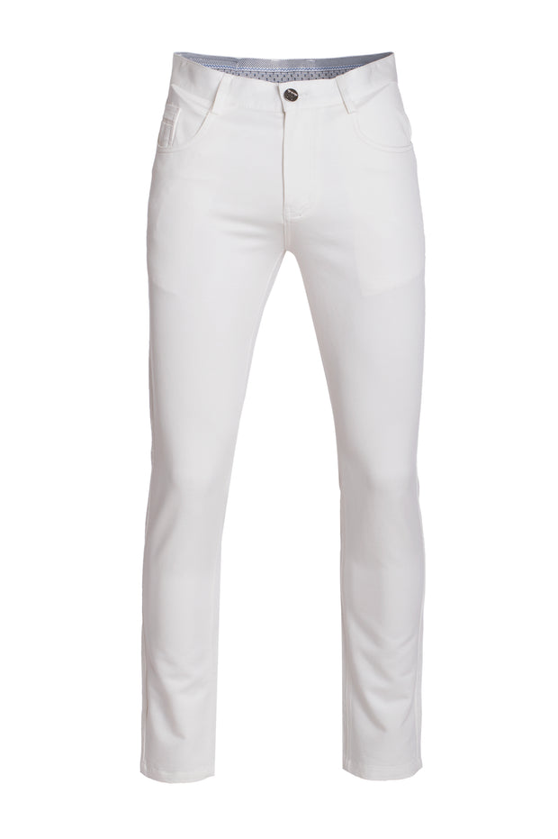 Men's White Skinny Cotton Jeans