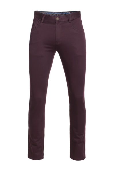 Men's Burgundy Skinny Pants