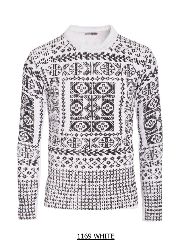 S-22 Black and White design Sweater