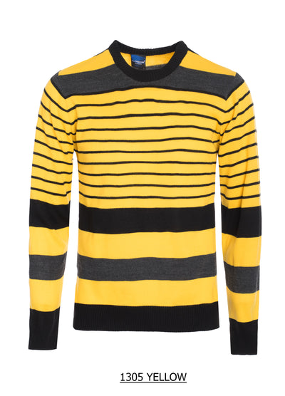 S-24 Yellow, Black and Grey Strips Sweater