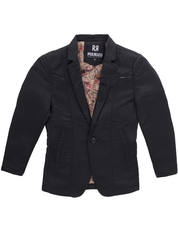 Boys Blazer Color Black