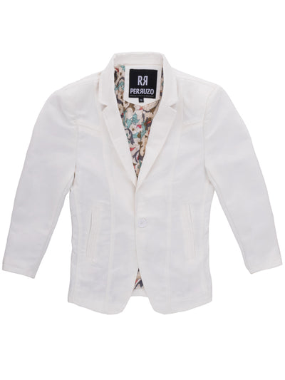 Men's White Boys Blazer