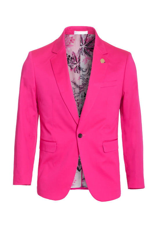 Fuchsia Cotton-Stretch Fashion Blazer (1720)