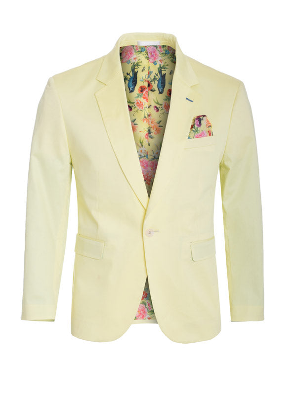 Lemon Cotton-Stretch Fashion Blazer (1720)