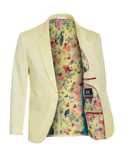 Men's Lemon Cotton-Stretch Fashion Blazer