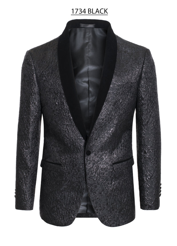 Men's Black Design Blazer