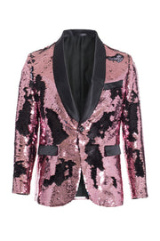 Men's Pink/Black Sequin Blazer