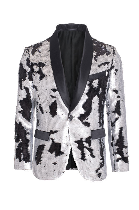 Silver/Black Sequin Blazer (1778)