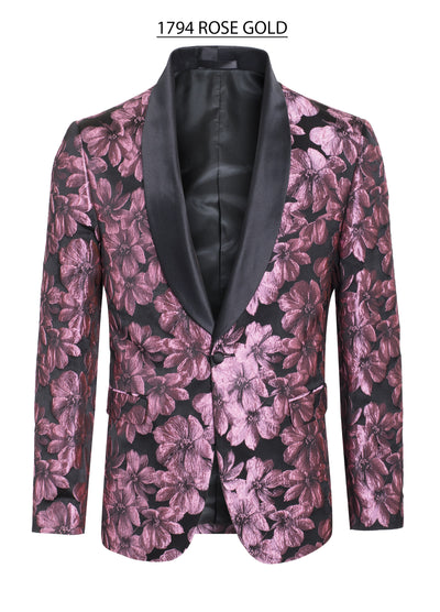 Men's Rose/Gold Floral Blazer