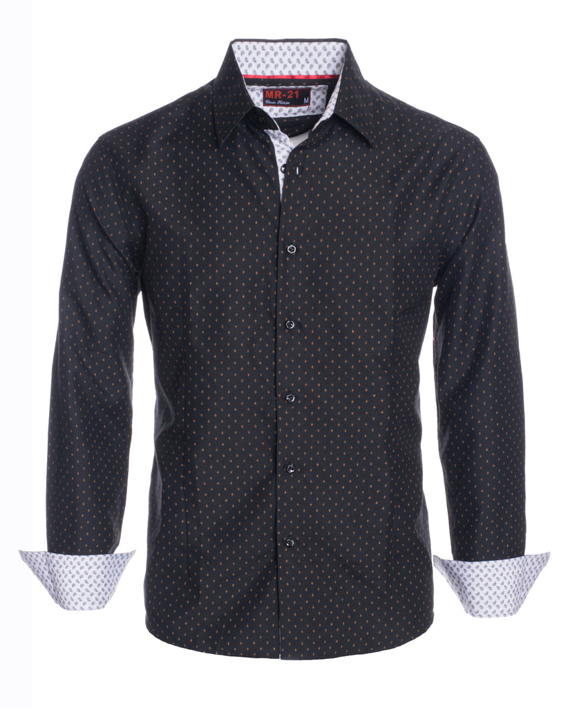 MR21- Black Long Sleeve Shirt (1925)