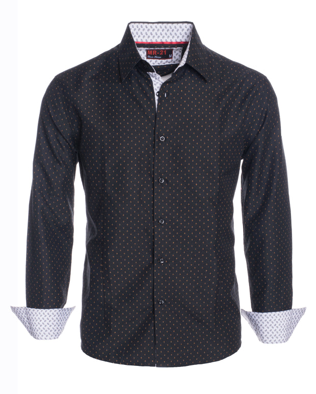 Men's MR21- Black Long Sleeve Shirt