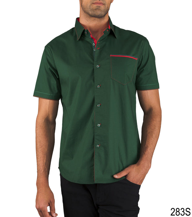 Pocket Design Shirt // Green