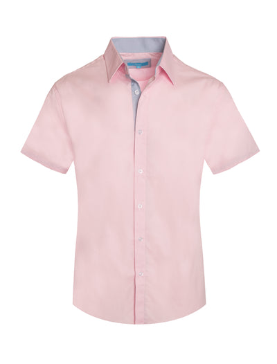 3020 Pink Solid Cotton S/S Shirt