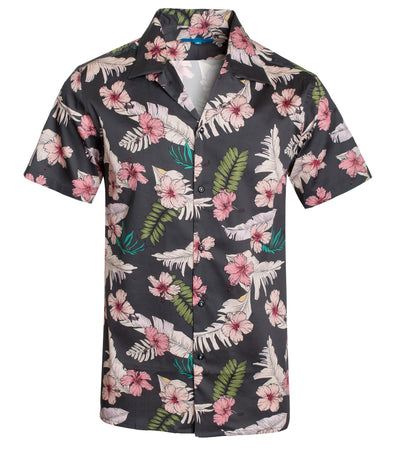 3047 Pink Hibiscus Cotton S/S Shirt