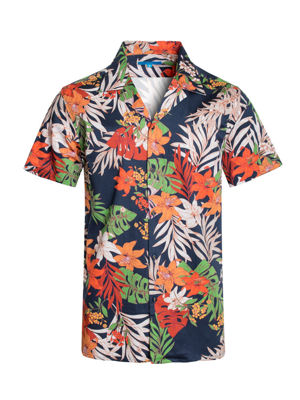 3050 Tropical Night Cotton S/S Shirt