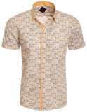Yellow Designed Short Sleeve Shirt (3300S)