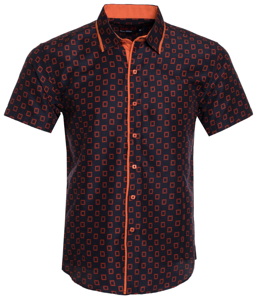 MR21- BLACK/ORANGE SHORT SLEEVE SHIRT (3703S)