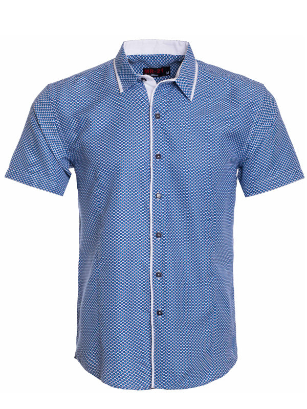 MR21- Blue Short Sleeve Shirt (3704S)