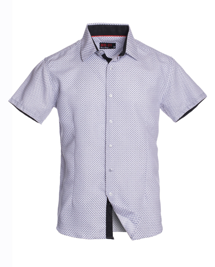 MR21- White Short Sleeve Shirt (3712S)