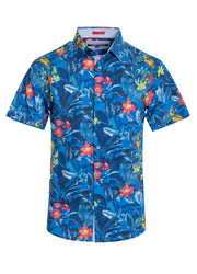 Pacific Floral Stretch Short-Sleeve Shirt Men