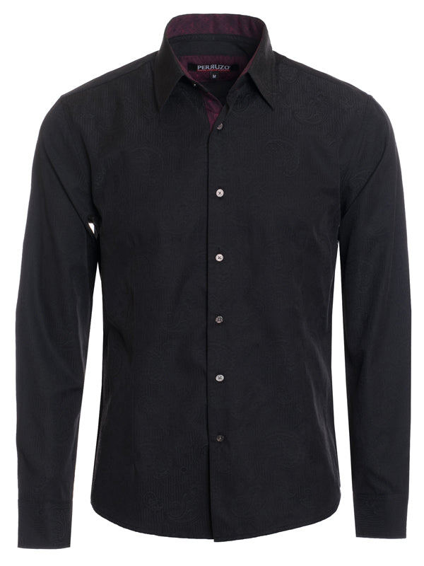 Solid Black Long Sleeve Shirt (4015L)