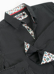 Black Polka Dots Long Sleeve Shirt (4032)