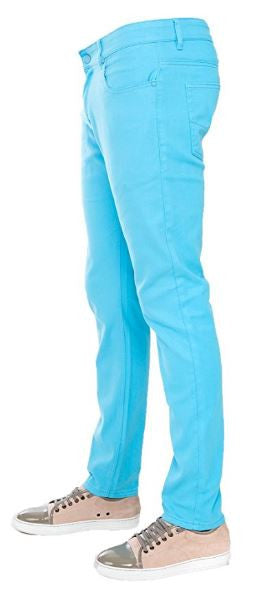 Turquoise Skinny-Stretch Jean (714)
