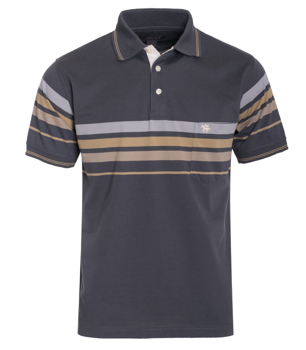 Kings Club Dark Charcoal Polo (5259)